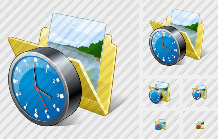Folder My Pictures Clock Icon
