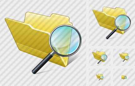 Folder Search 2 Icon