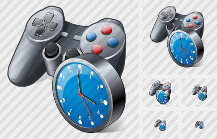 Gamepad Clock Icon