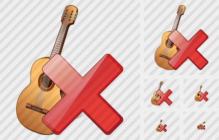Guitar Delete Icon