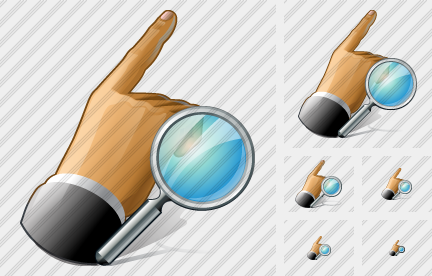 Hand Search Icon