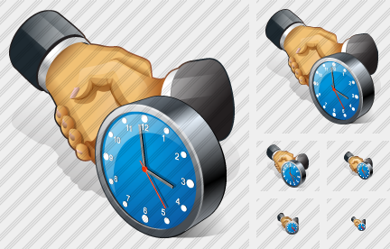 Handshake Clock Icon