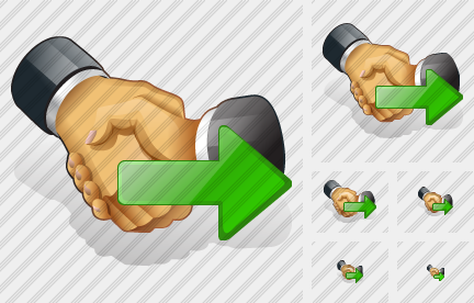 Handshake Export Icon