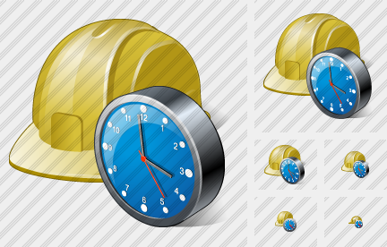Helmet Clock Icon