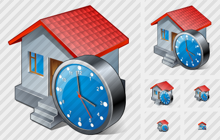 Home Clock Icon