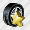 Car Wheel Favorite Icon