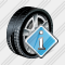 Car Wheel Info Icon