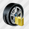 Car Wheel Locked Icon