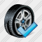 Car Wheel Ok Icon