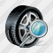 Car Wheel Search Icon