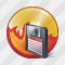 CD Burn Save Icon