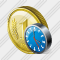 Coin Clock Icon