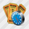 Ticket Clock Icon