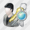 User Administrator Search Icon