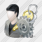 User Administrator Settings Icon