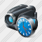 Video Camera Clock Icon