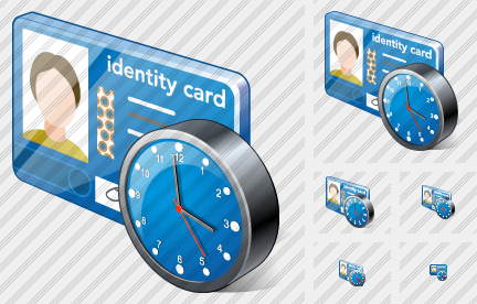 Index Card Clock Icon