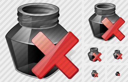 Ink Pot Delete Icon