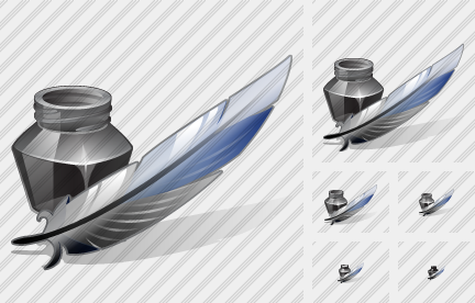 Ink Pot Feather Icon
