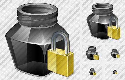 Ink Pot Locked Icon