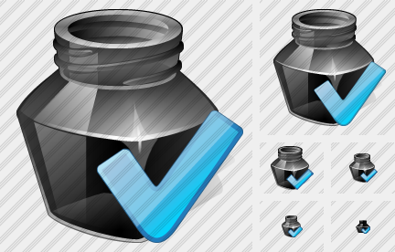 Ink Pot Ok Icon
