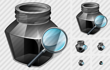 Ink Pot Search 2 Icon