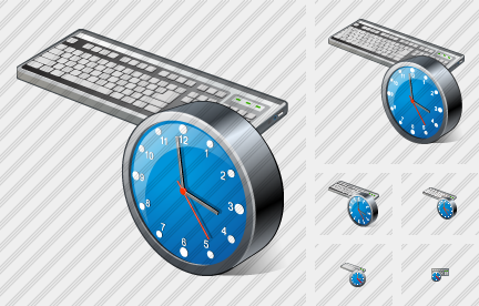 Keyboard Clock Icon