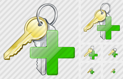Keys Add Icon