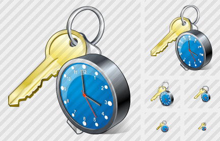 Keys Clock Icon