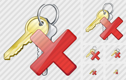 Keys Delete Icon