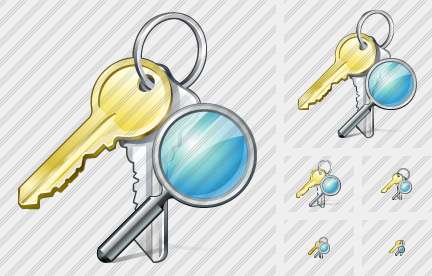 Keys Search Icon