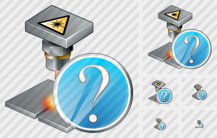 Laser Beam Question Icon