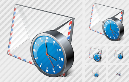 Mail Clock Icon