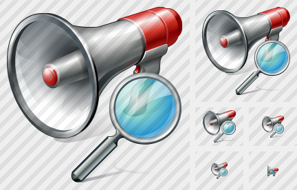Megaphone Search Icon