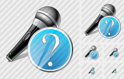 Microphone Question Icon