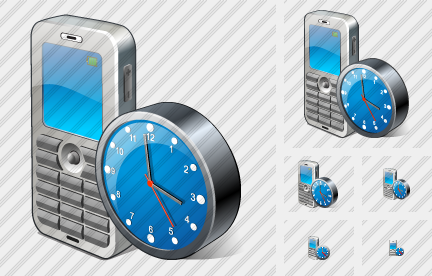 Mobile Phone Clock Icon
