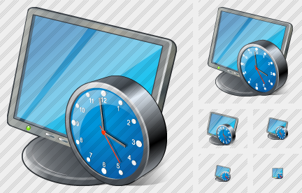 Monitor Clock Icon
