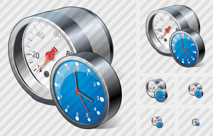 Monitoring Device Clock Icon