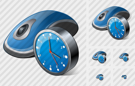 Mouse Clock Icon