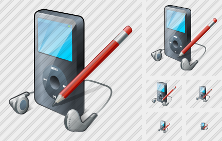 MP3 Player Edit Icon