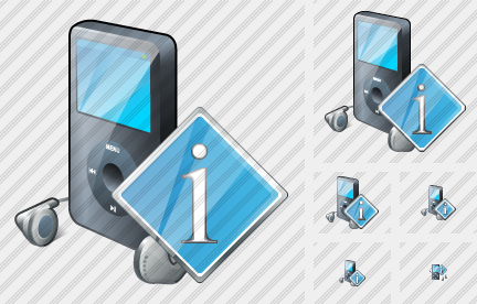 MP3 Player Info Icon