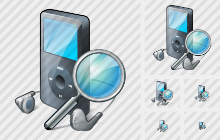 MP3 Player Search Icon