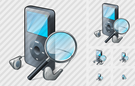 MP3 Player Search 2 Symbol