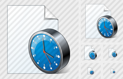 New Document Clock Symbol