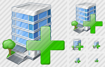 Office Building Add Icon