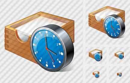 Paper Box Clock Icon