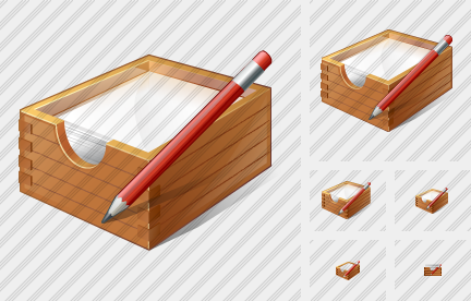 Paper Box Edit Icon