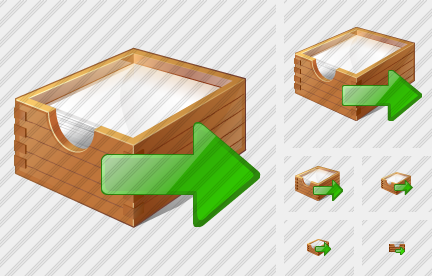 Paper Box Export Icon