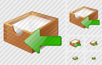 Paper Box Import Icon