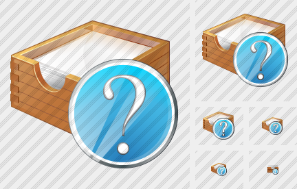 Paper Box Question Icon